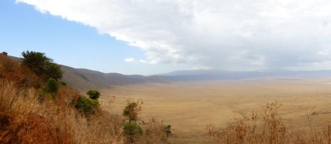 Einfahrt in den Krater