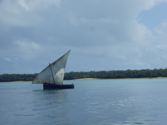 Typisches Dhow-Boot