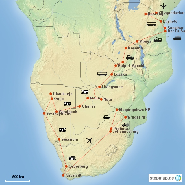 stepmap-karte-afrikareise-2015-1650964